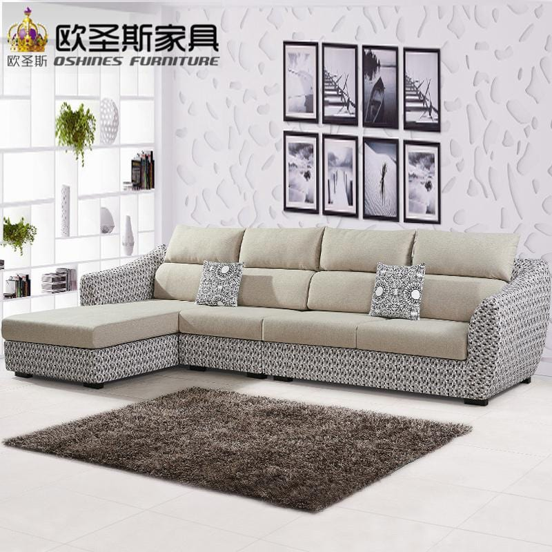 fair cheap low price 2017 modern living room furniture new design l shaped sectional suede velvet fabric corner sofa set X290 - EM