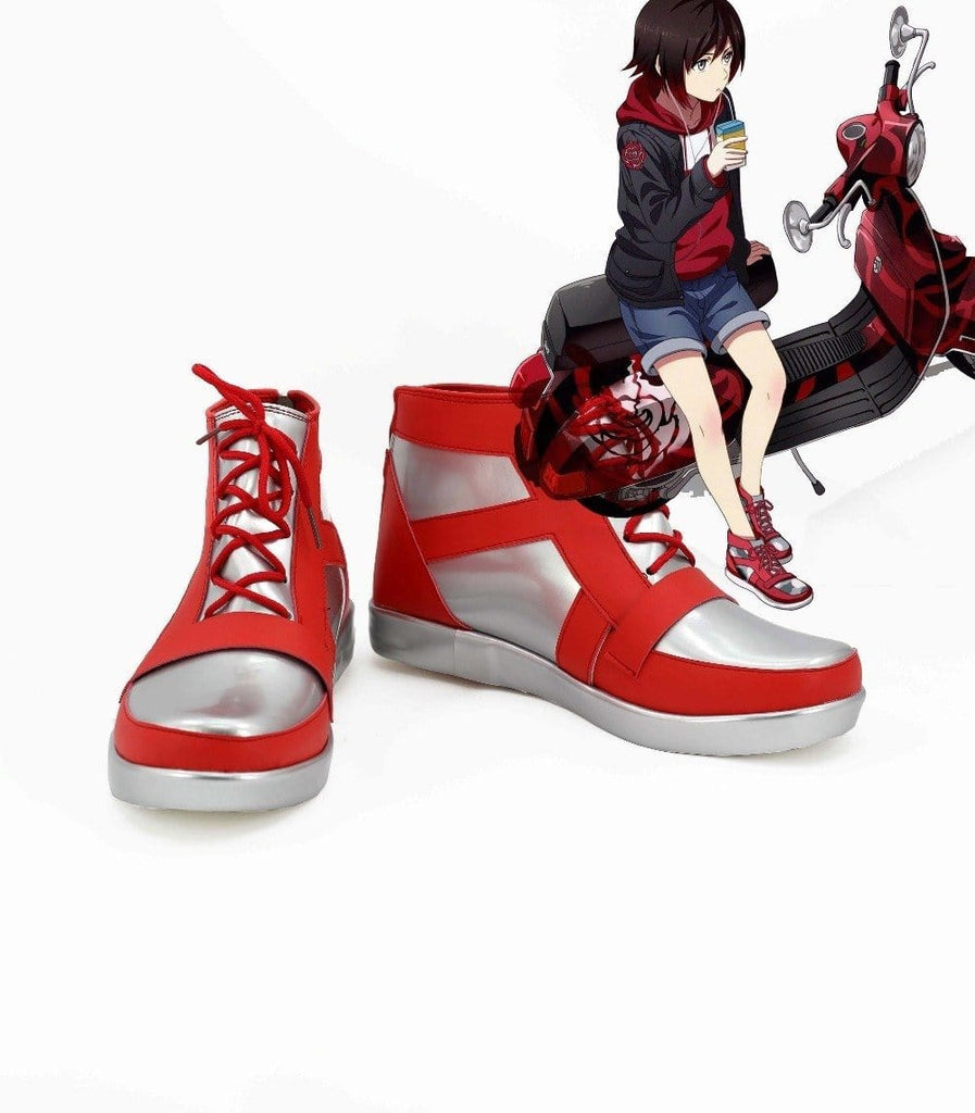 Rwby Ruby Cosplay Shoes Boots For Hallowen Christmas For Women Men