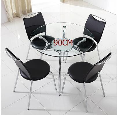 Modern simple tempered glass.. Negotiating table and chair combination. - EM