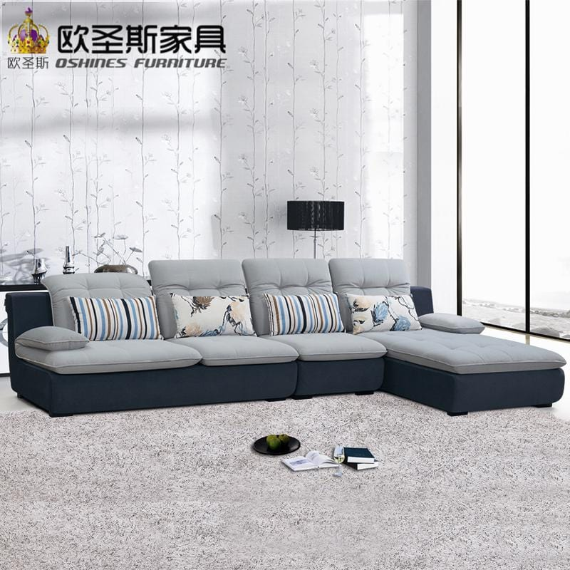 fair cheap low price 2017 modern living room furniture new design l shaped sectional suede velvet fabric corner sofa set X628 - EM