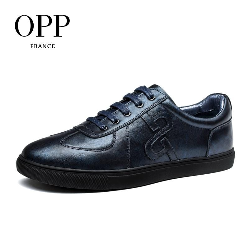 OPP Genuine Leather Men Shoes Casual Shoes For Men Cow Leather moccasins hombre  Fashion Men Loafers for Men Flats