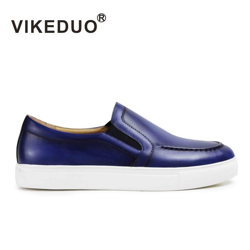 Vikeduo Handmade Men's Casual Shoes Custom 100% Genuine Cow Leather High Quality Fashion Luxury Party Leisure Original Design