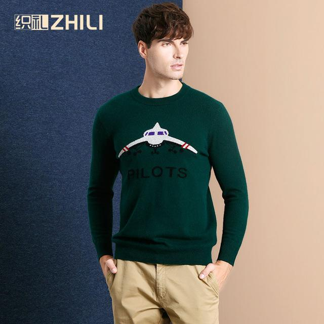 54d9a6a2 High Quality New 2017 Autumn Winter Knitted Sweater Men Fall Clothing Brand  Casual Shirt 100% Cashmere Wool Pullover O-Neck