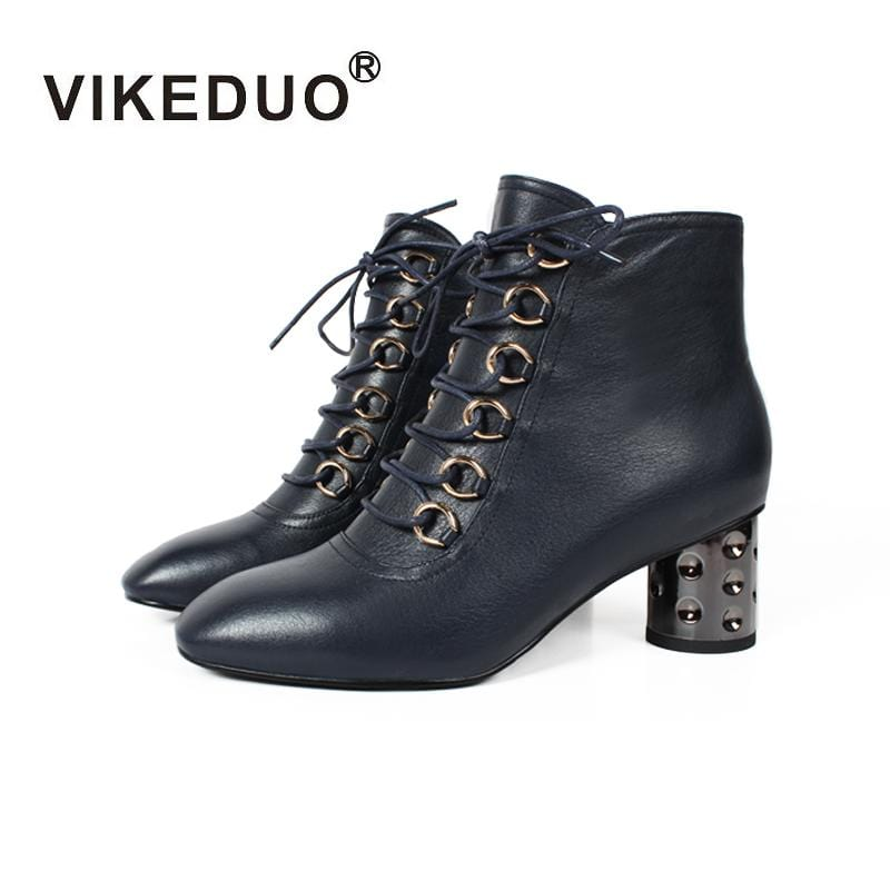 Vikeduo Shoe boots chaussures Hand Genuine Leather Shoes Sexy