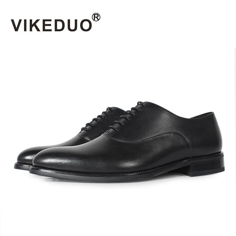 Vikeduo Handmade classic fashion Black Wedding business office dance work male dress shoes Genuine Leather men's Oxford Shoes