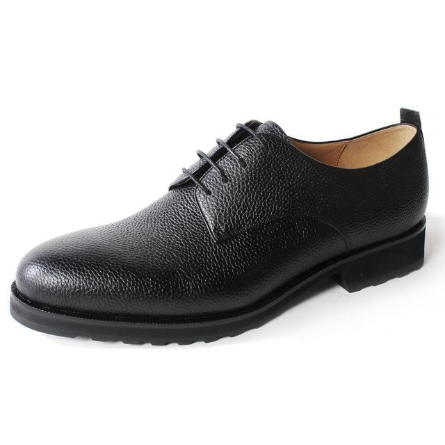 Vikeduo Handmade Black Classic Luxury Wedding Party Lace-up Dress shoes male shoe Genuine Leather shoe Mens Derby Dress Shoes
