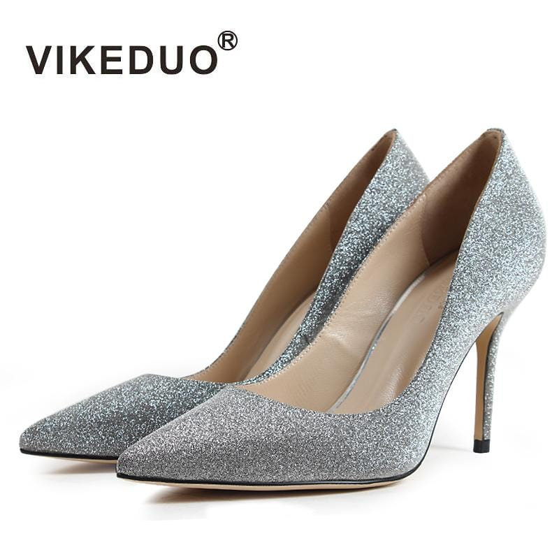 Vikeduo Brand Limited 2018 Fashion Silk Sapato Feminino New Luxury Lady Wedding Shoes High Heels Pointed Toe Shoe Women Pumps