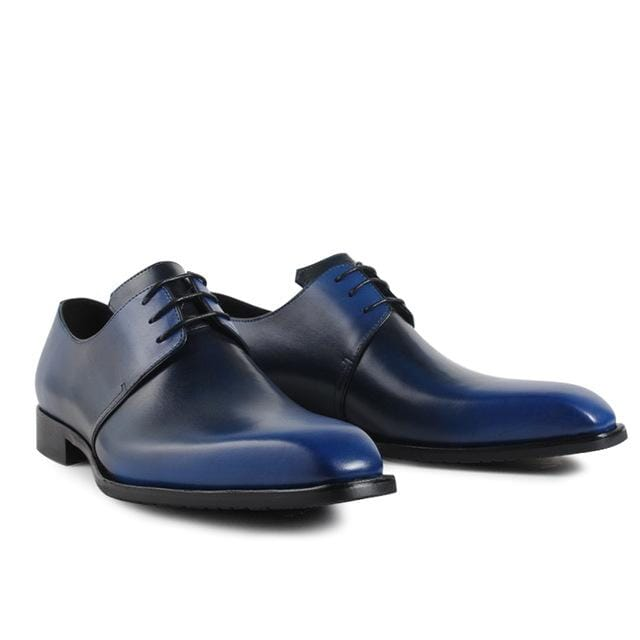 Vikeduo 2018 Hot Handmade Designer Vintage Fashion Casual Party Blue Dance Wedding Male Dress Genuine Leather Mens Derby Shoes