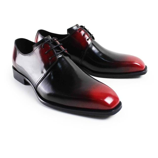 Vikeduo 2018 Handmade Vintage Luxury Brand Wedding Party Dress Dance Exclusive Footwear Genuine Leather Flat Mens Derby Shoes