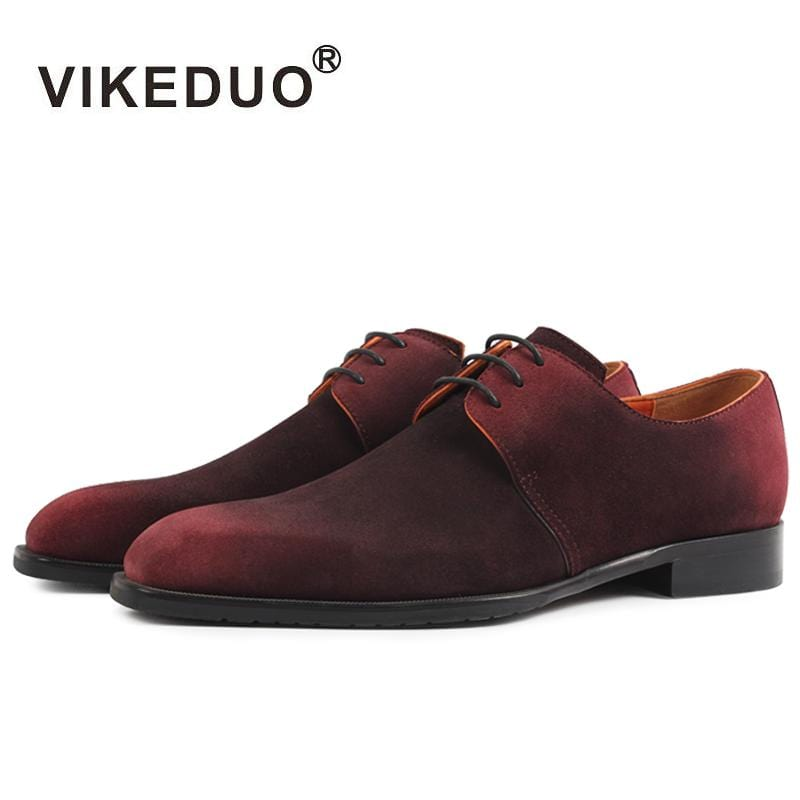 Vikeduo 2018 Handmade Hot Luxury Fashion Suede Designer Lace-up Party Dance Male Dress Shoes Genuine Leather Mens Derby Shoes