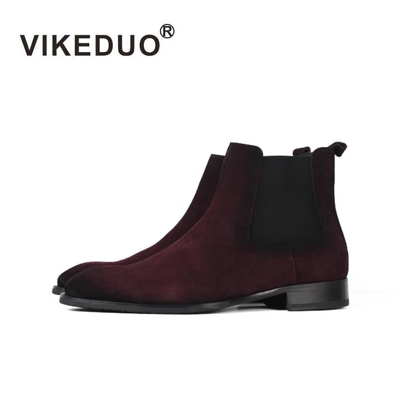 Vikeduo 2018 Handmade Tactical Boot Military Fashion casual luxury heel Ankle Elegant Genuine Leather snow winter fur Men Boots