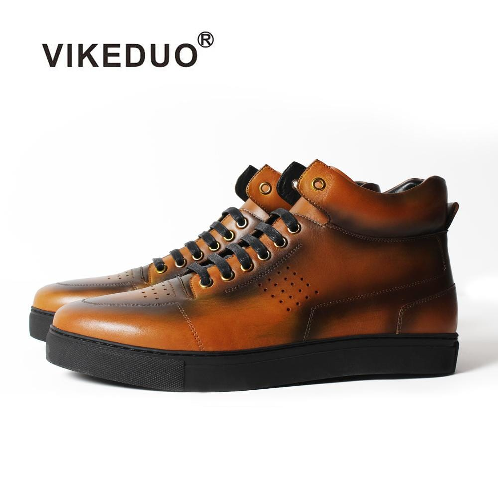 Vikeduo 2018 Handmade Elegant Tactical Boot Military Fashion Casual Luxury Genuine Leather Shoe Ankle Snow Winter Fur Men Boots