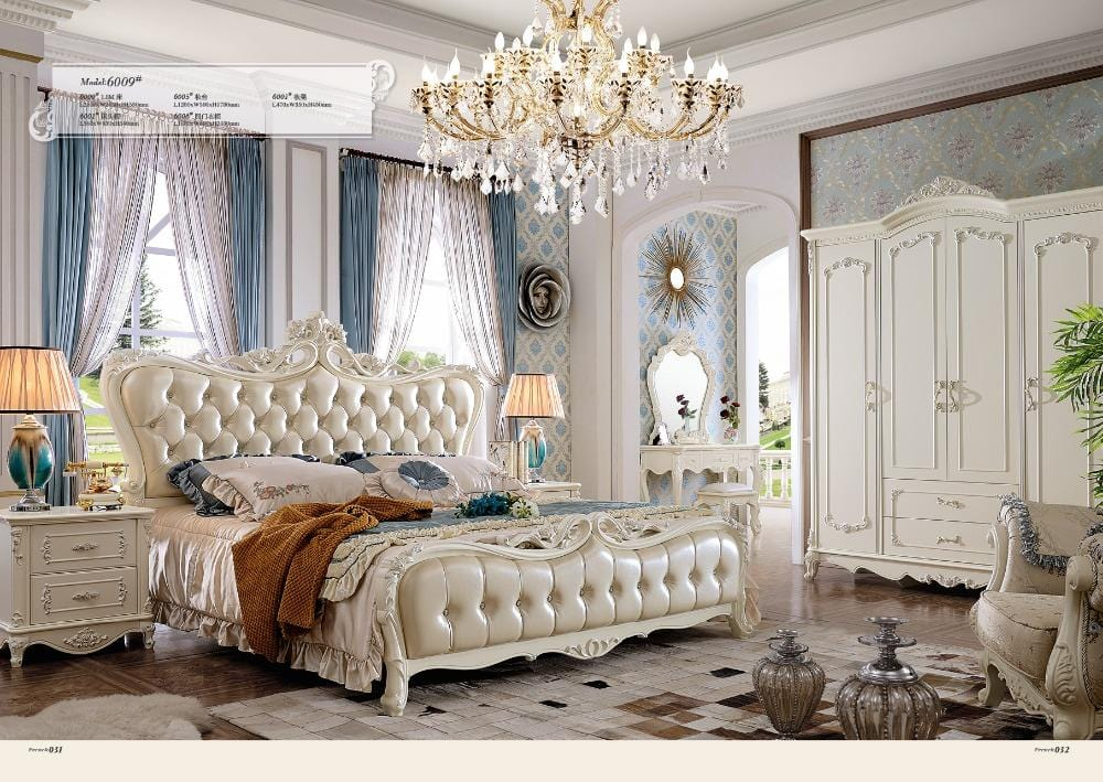 2018 Bedroom Set And Living Room Furniture Free Shipping Delivery To Moscow King Size Bed,dresser,wardrobewith Leather Sofa - EM