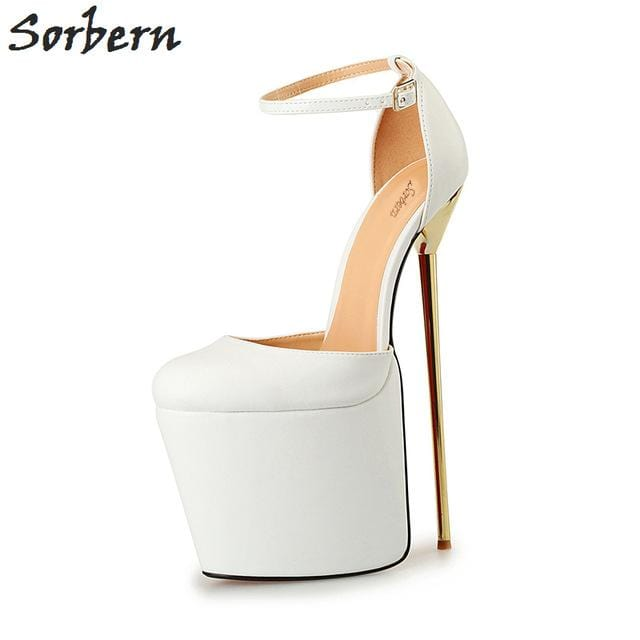 Sorbern Unisex 20Cm Extrem High Heels 2017 Party Shoes Zapatos Mujer Alto Con Plataforma Evening Club Dance Heels Size 40-50