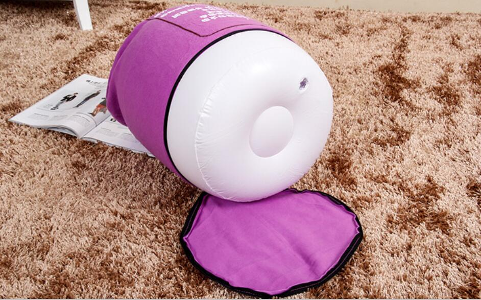 35cm x 35cm  flocking pvc inflatable footstool , home furniture foot rest cushion