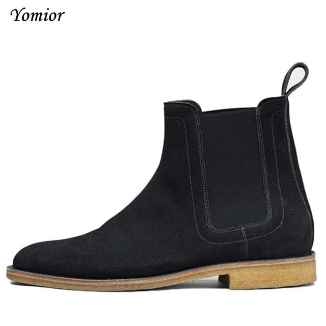 3a5d851b2fcfc Handmade Men Chelsea Boots Vintage Casual Boots All-matching Kanye West  Spring Boots Luxury Platform Wedding Party Shoe Sneakers
