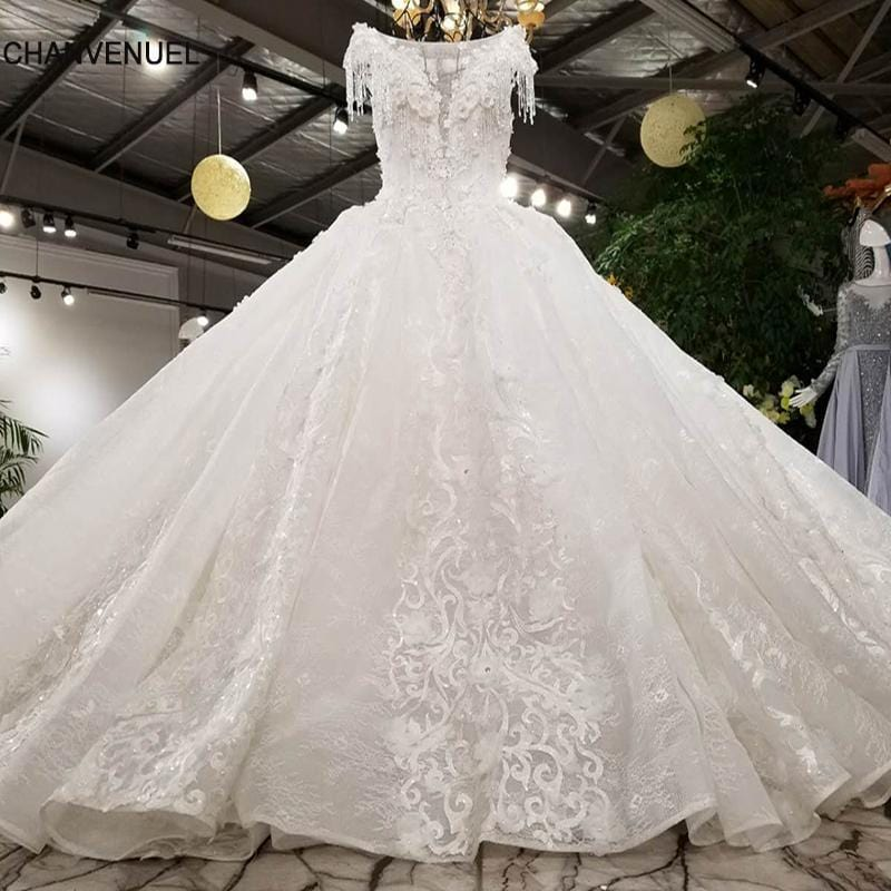 LS00380 lace up luxury wedding dress 2018 sexy ever pretty generous beautiful gowns vestidos de noiva bridal dress gelinlik