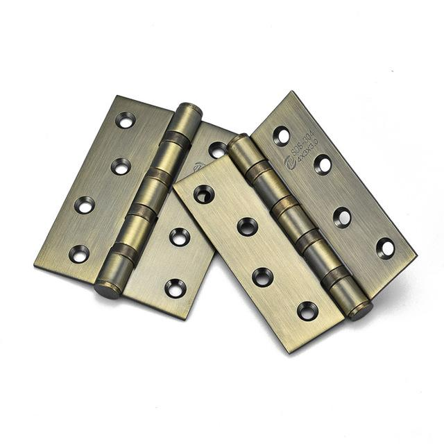 1 Pair Stainless Steel Wood Doors Cabinet Drawer Box Interior Hinge 4 Inch Door Hinges Furniture Hardware Accessories Ho