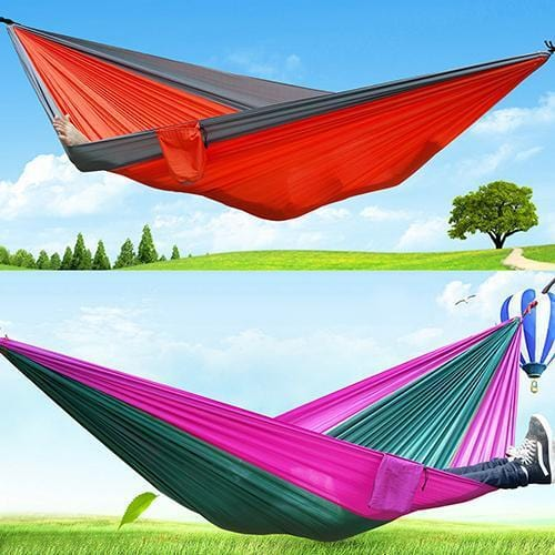 2016 New Portable Outdoor Traveling Camping Parachute Nylon Fabric Sleeping Bed Hammock 08WG
