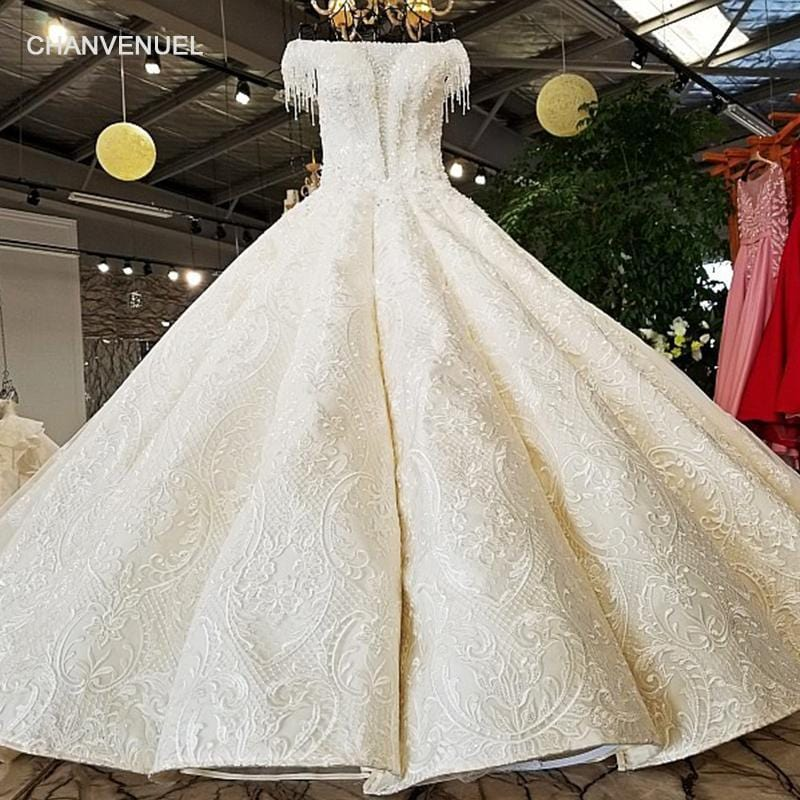 LS62101 big skirt short sleeves off shoulder 100% real picture show original design wedding dress alibaba wholesale china online