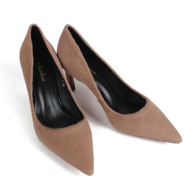 Vikeduo Hot Handmade Genuine leather shoes fashion Wedding party Dancing Dress Shoe for Ladies Suede Women High Heel Shoes pumps