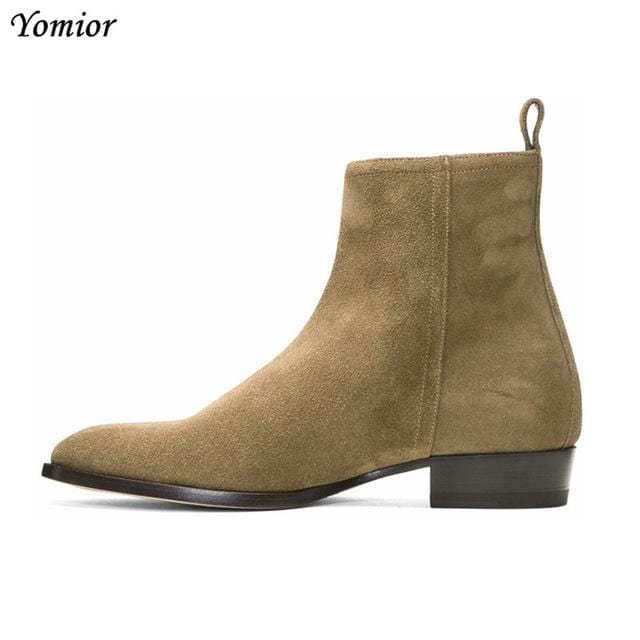 Chelsea Boots Cow Leather British Style Fashion Casual High Quality Men Ankle Boots 2018 New Business Travel Wedding Men Boots