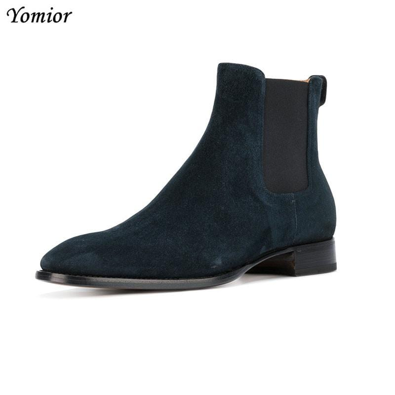 Yomior Handmade Vintage All-matching Men Boots Genuine Leather Martin Tooling Boots England Chelsea Boots Casual Wedding Shoes