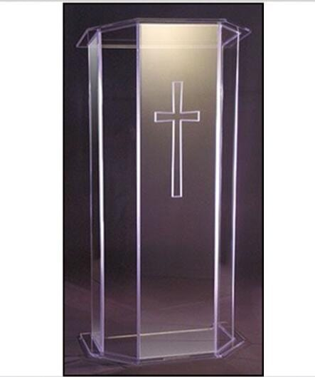 plexiglass material acrylic podium lectern decoration table furniture - EM