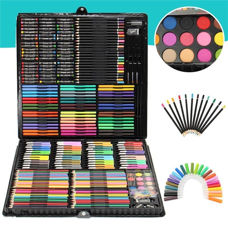 288Pcs Art Painting Drawing Art Watercolor Paint Crayons Color Pen Pencils Set Children's Drawing Set Painting Learning