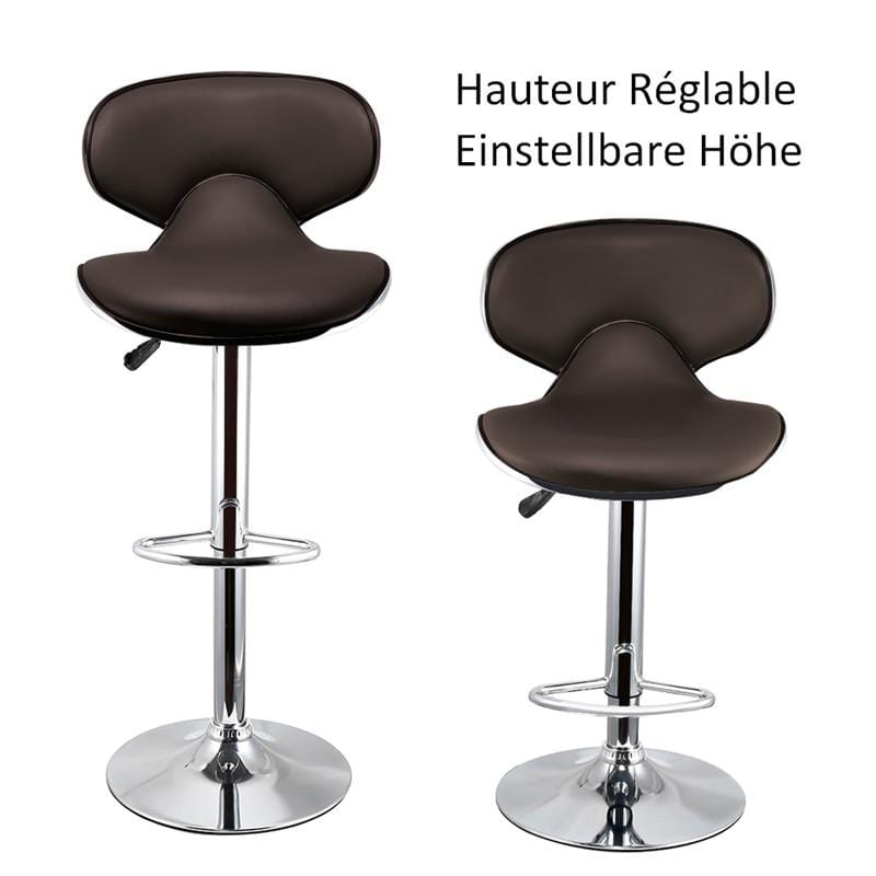 DOORSACCERY 2pcs/set Brown Bar Chair Lift Height 46*49*(85-105)cm Room Decoration Free Shipping In DE FR