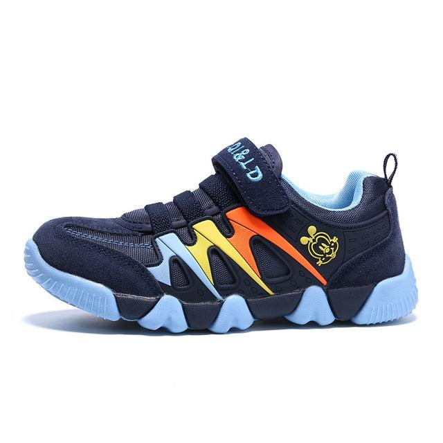 ... ULKNN Genuine Leather Kids Sport Shoes Children Sneakers For Boys Shoes  Girls Spring Autumn Breathable Mesh 023a2261599