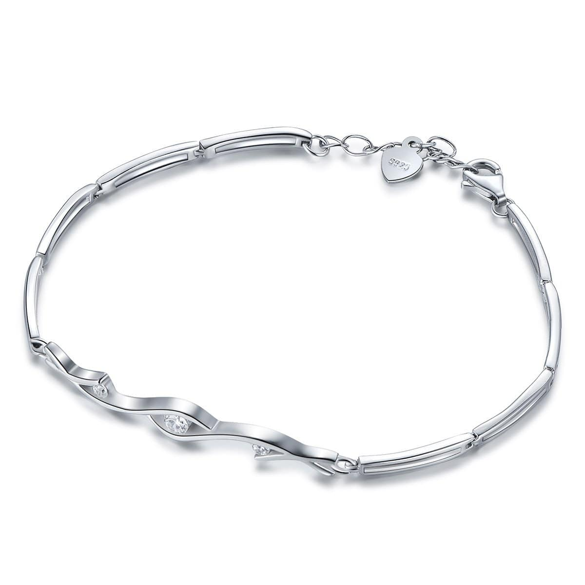 925 sterling silver bracelet women's simple fashion bracelet - EM