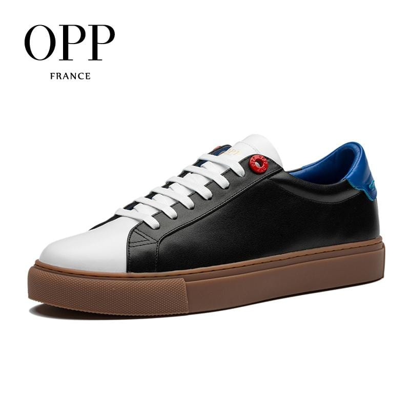 OPP 2018 Cow Leather Flats Fashion Shoes Genuine Leather Loafers For Men Shoes moccasins Mens Casual Footwear Young Flats