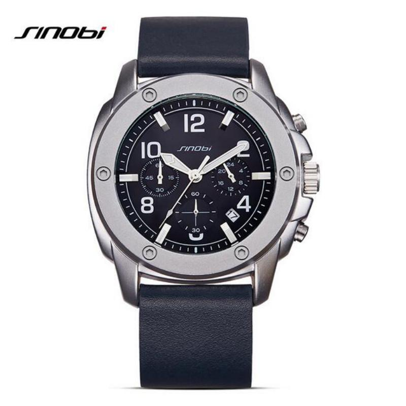 SINOBI fashion chronograph waterproof glowing men's watches - EM
