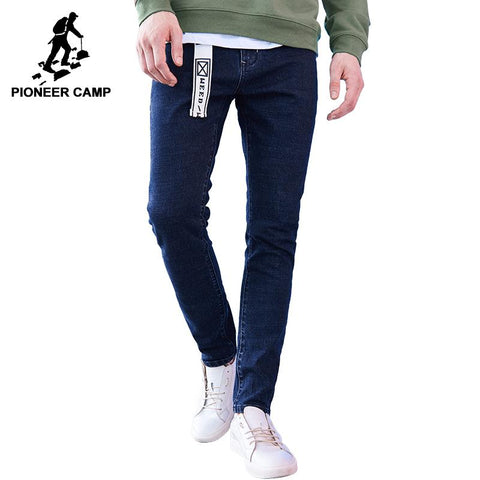 Pioneer Camp New arrival dark blue skinny men jeans brand-clothing fashion feet pants male top quality denim trousers ANZ707023 - EM