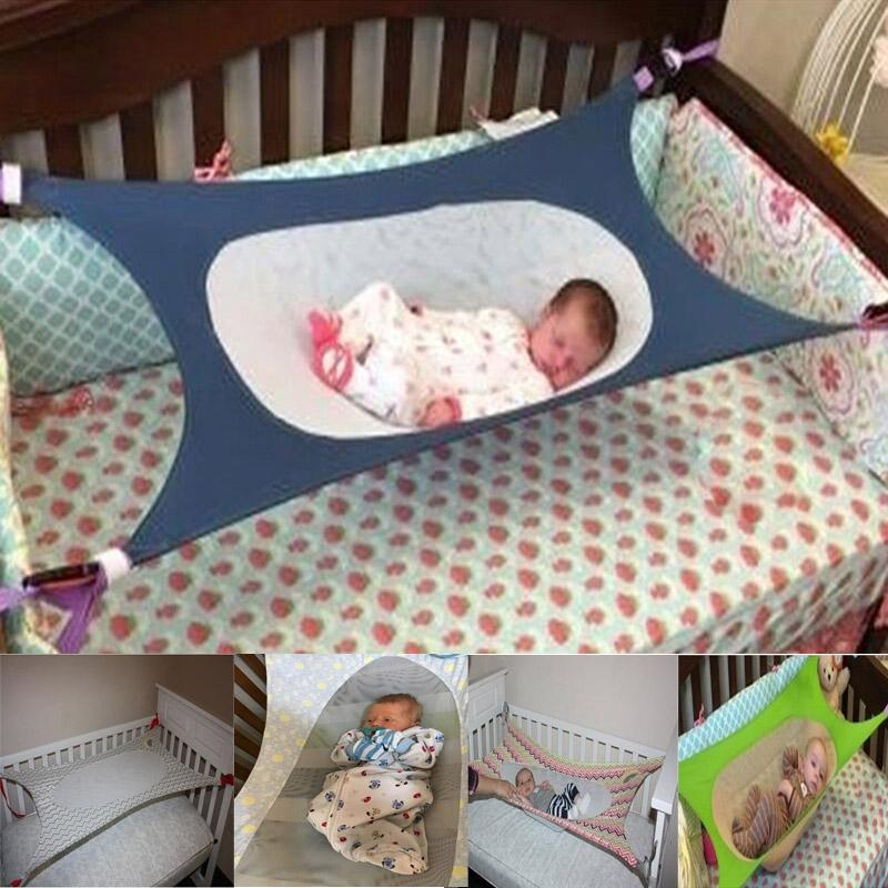 Portable Elastic Detachable Baby Cot Beds Baby Crib Hammock Folding Newborn Infant Bed Toddler Safe Photography Props HG