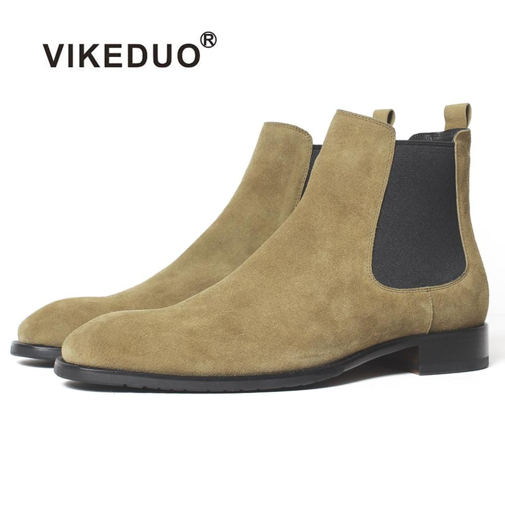 Vikeduo 2018 Handmade Tactical Boot Military Fashion casual luxury ankle boots for male Genuine Leather snow winter Men Boots