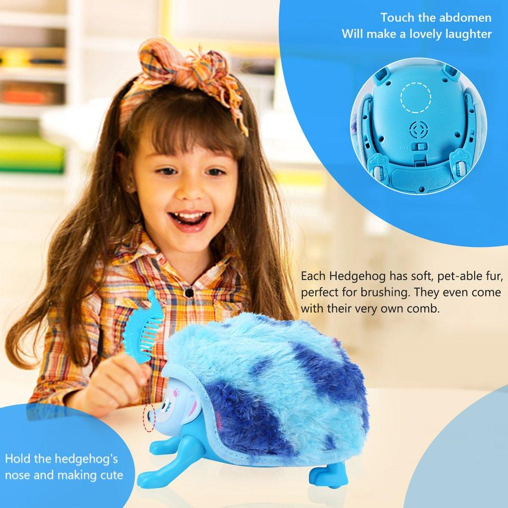 Electronic Pet Hedgehog Shaped Touch with Hedgehog Rolling Induction Toys for Unisex Boys Girls Toddler Gifts - EM