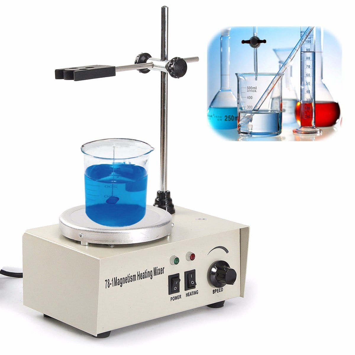 KiCute 220V 50HZ Lab Supplies Chemistry Magnetic Stirrer Magnetic Stirrer Office Laboratory Magnetic Mixer Stirrers Apparatus