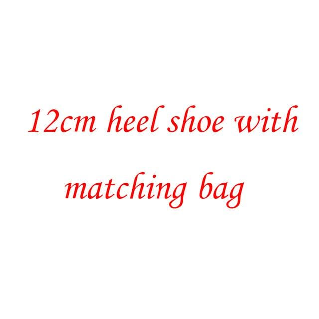 New Arrival crystal womens wedding shoes with matching bags Clutches real leather Bride shoe and purse sets platform shoes