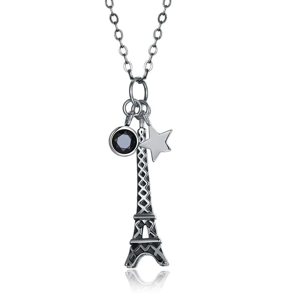 S925 Silver Necklace Fashion Personality Tower Necklace - EM