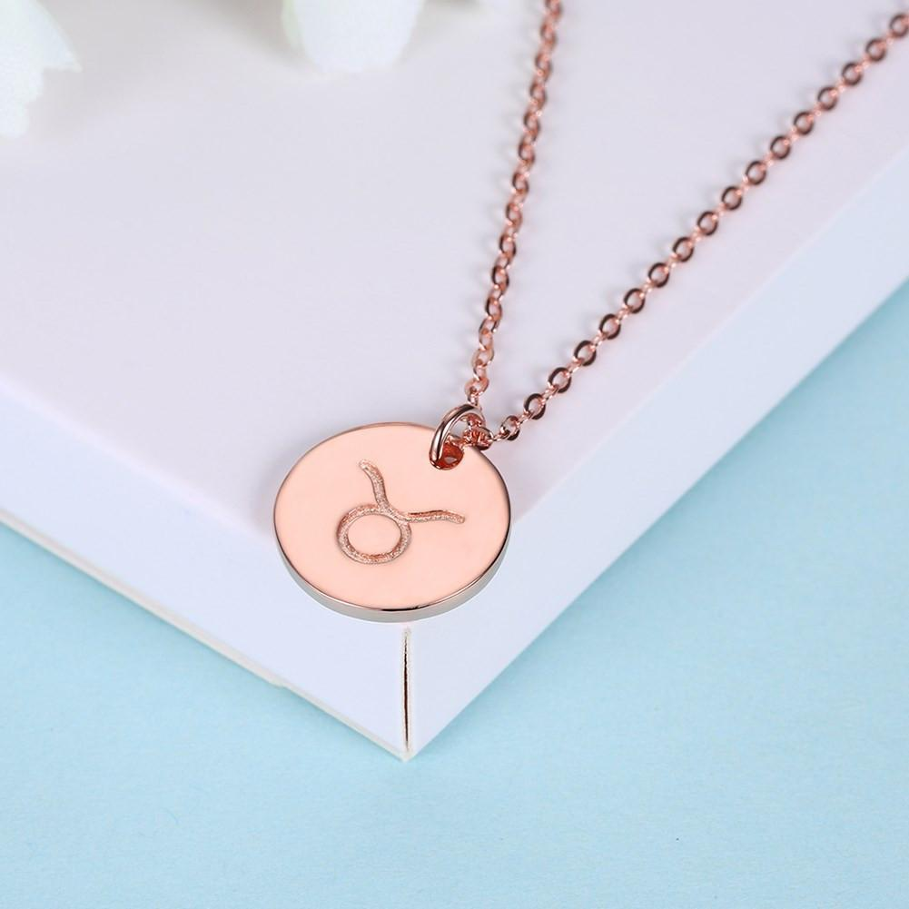 925 Sterling Silver Necklace cute simple pattern round pendant boutique romantic Necklace - EM