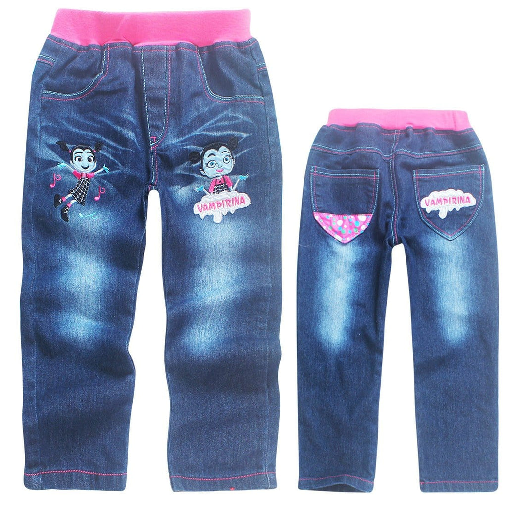 3-8Years Vampirina Clothes Pants for Children Jeans Kids Girl Pants Jeans Enfants Fille 2018 Pantalon Enfant Garcon - EM