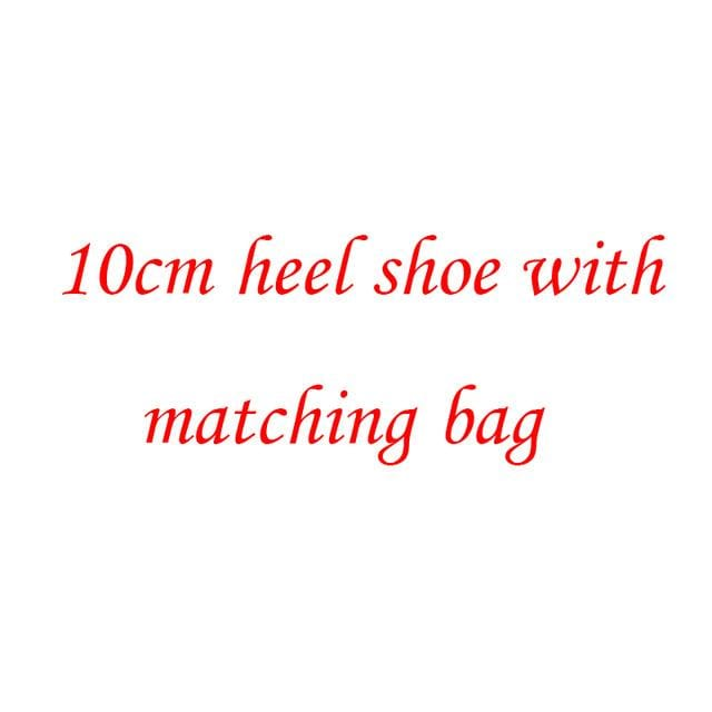 BaoYaFang Multicolor flower shining crystal womens platform wedding shoes with matching bags Clutches high heels female Pumps