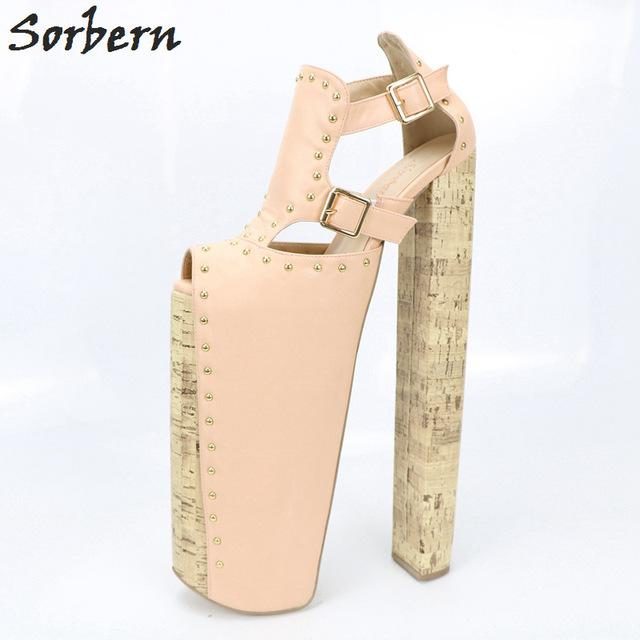 7f025048c564 Sorbern Extrem High Heel Customized Thick Platforms Women Pump Shoes Sexy  Fetish Shoes Show Runway Pumps