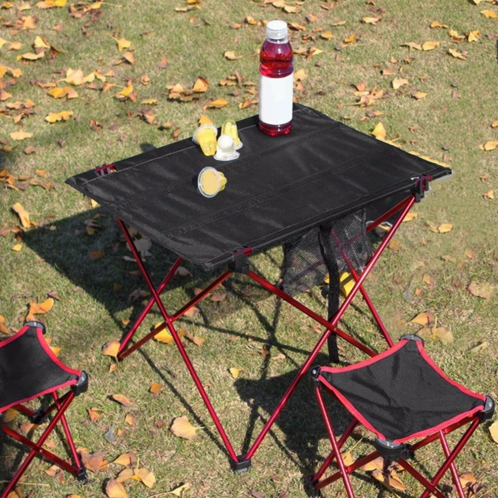 Outdoor Folding Table Aluminium Alloy Structure Camping Table Waterproof Ultra-light Durable Furniture Accessory For Picnic
