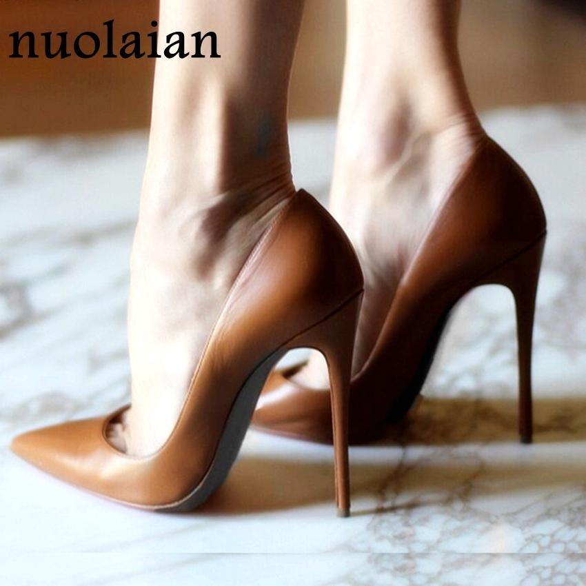 12CM Brand Ladies High Heel Shoes Woman Wedding Shoes Summer Thin High Heels Womens Platform Pumps Women Shoes Dress - EM