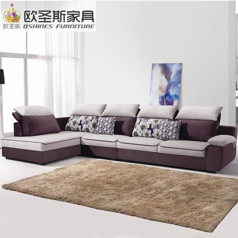 fair cheap low price 2017 modern living room furniture new design l shaped sectional suede velvet fabric corner sofa set X188-1 - EM
