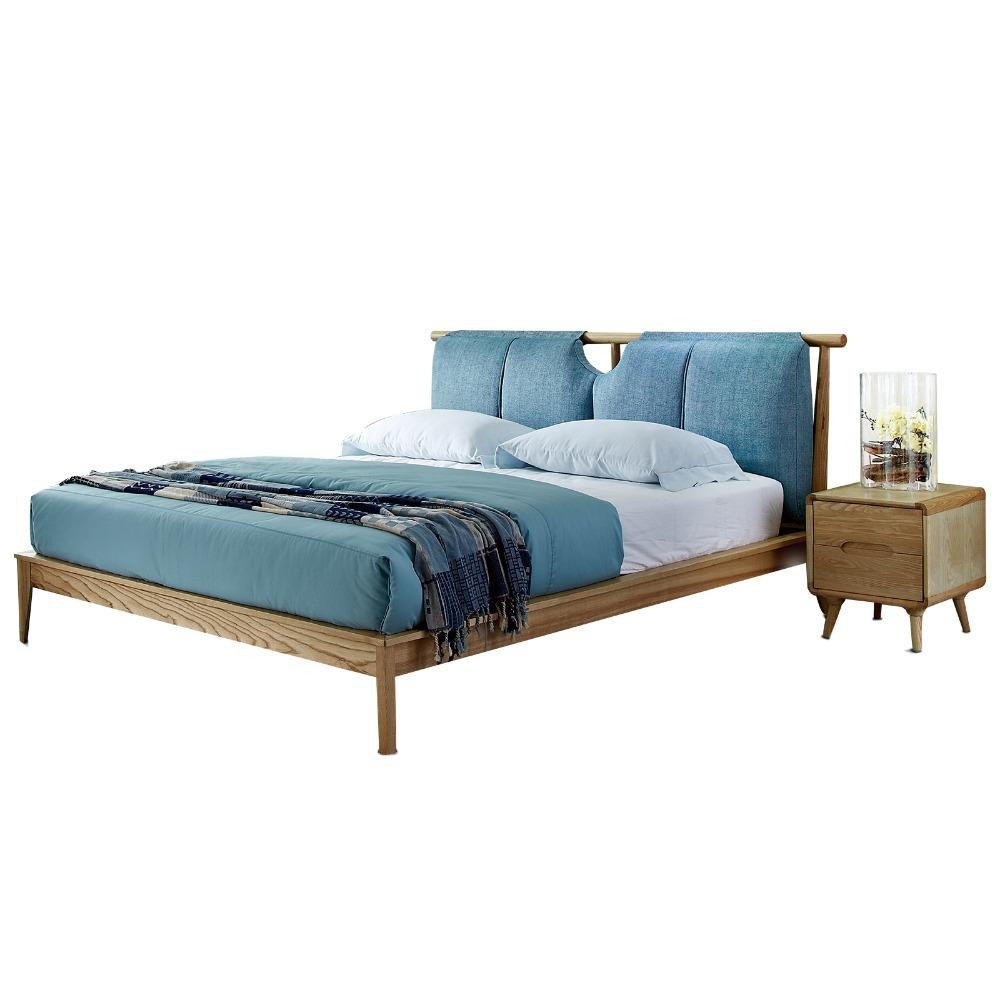 Peachy 1121H101 All Solid Wood Nordic Style Modern Minimalist Wedding King Size Bed Master Bedroom Furniture Download Free Architecture Designs Boapuretrmadebymaigaardcom