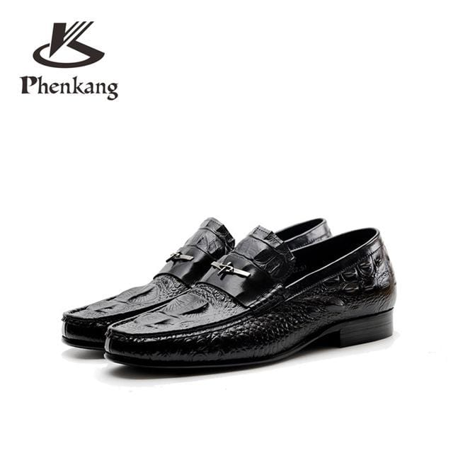 Mens Casual genuine leather flats loafers for men comfortable business casual brown black pea boat man leather shoes CY335-2